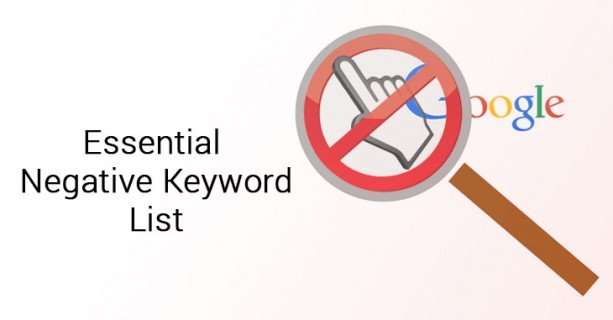 Negative keyword lists in Google Ads